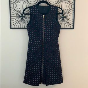 Tommy Hilfiger zipper front sleeveless dress